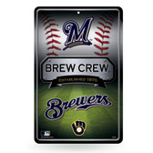 Milwaukee Brewers 11X17 Large Embossed Metal Wall Sign