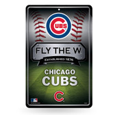 Chicago Cubs 11X17 Large Embossed Metal Wall Sign
