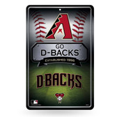 Arizona Diamondbacks 11X17 Large Embossed Metal Wall Sign