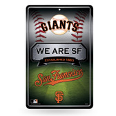 San Francisco Giants - SF 11X17 Large Embossed Metal Wall Sign
