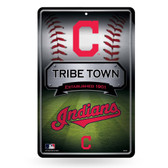 Cleveland Indians 11X17 Large Embossed Metal Wall Sign
