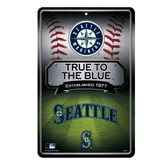 Seattle Mariners 11X17 Large Embossed Metal Wall Sign