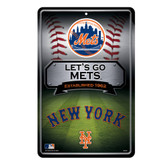 New York Mets 11X17 Large Embossed Metal Wall Sign