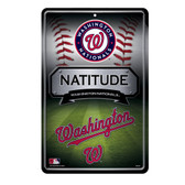 Washington Nationals 11X17 Large Embossed Metal Wall Sign