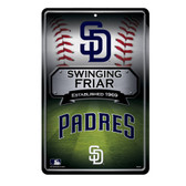 San Diego Padres 11X17 Large Embossed Metal Wall Sign