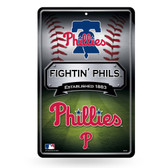 Philadelphia Phillies 11X17 Large Embossed Metal Wall Sign