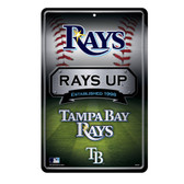 Tampa Bay Rays 11X17 Large Embossed Metal Wall Sign