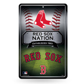 Boston Red Sox 11X17 Large Embossed Metal Wall Sign