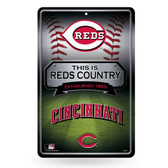 Cincinnati Reds 11X17 Large Embossed Metal Wall Sign
