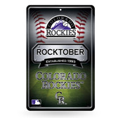Colorado Rockies 11X17 Large Embossed Metal Wall Sign