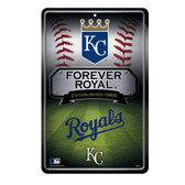Kansas City Royals 11X17 Large Embossed Metal Wall Sign