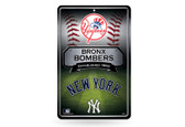 New York Yankees 11X17 Large Embossed Metal Wall Sign