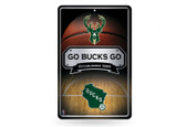 Milwaukee Bucks 11X17 Large Embossed Metal Wall Sign