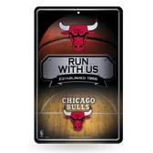 Chicago Bulls 11X17 Large Embossed Metal Wall Sign