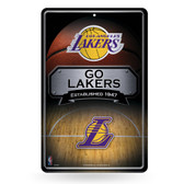 Los Angeles Lakers 11X17 Large Embossed Metal Wall Sign