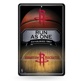 Houston Rockets 11X17 Large Embossed Metal Wall Sign