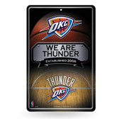 Oklahoma City Thunder 11X17 Large Embossed Metal Wall Sign