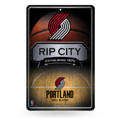 Portland Trail Blazers 11X17 Large Embossed Metal Wall Sign