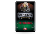 San Francisco 49ers 11X17 Large Embossed Metal Wall Sign