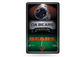 Chicago Bears 11X17 Large Embossed Metal Wall Sign
