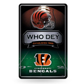 Cincinnati Bengals 11X17 Large Embossed Metal Wall Sign