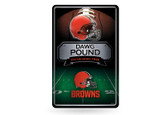 Cleveland Browns 11X17 Large Embossed Metal Wall Sign