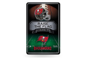Tampa Bay Buccaneers 11X17 Large Embossed Metal Wall Sign