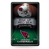 Arizona Cardinals 11X17 Large Embossed Metal Wall Sign