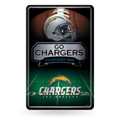 San Diego Chargers 11X17 Large Embossed Metal Wall Sign