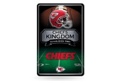 Kansas City Chiefs 11X17 Large Embossed Metal Wall Sign