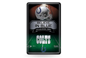 Indianapolis Colts 11X17 Large Embossed Metal Wall Sign