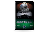 Dallas Cowboys 11X17 Large Embossed Metal Wall Sign