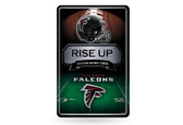 Atlanta Falcons 11X17 Large Embossed Metal Wall Sign