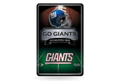 New York Giants 11X17 Large Embossed Metal Wall Sign