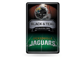 Jacksonville Jaguars 11X17 Large Embossed Metal Wall Sign