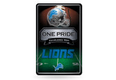 Detroit Lions 11X17 Large Embossed Metal Wall Sign