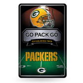Green Bay Packers 11X17 Large Embossed Metal Wall Sign