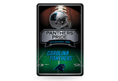 Carolina Panthers - CR 11X17 Large Embossed Metal Wall Sign
