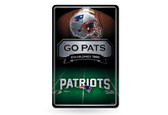 New England Patriots 11X17 Large Embossed Metal Wall Sign