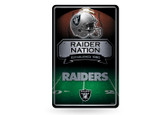 Oakland Raiders 11X17 Large Embossed Metal Wall Sign