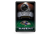 Baltimore Ravens 11X17 Large Embossed Metal Wall Sign