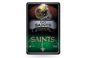 New Orleans Saints 11X17 Large Embossed Metal Wall Sign
