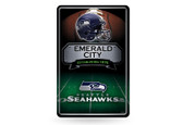 Seattle Seahawks 11X17 Large Embossed Metal Wall Sign