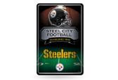 Pittsburgh Steelers 11X17 Large Embossed Metal Wall Sign
