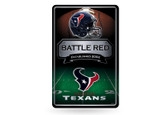 Houston Texans 11X17 Large Embossed Metal Wall Sign