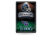 Tennessee Titans 11X17 Large Embossed Metal Wall Sign