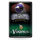 Minnesota Vikings 11X17 Large Embossed Metal Wall Sign