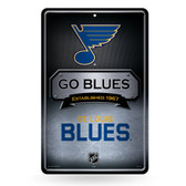 St. Louis Blues 11X17 Large Embossed Metal Wall Sign