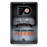 Philadelphia Flyers 11X17 Large Embossed Metal Wall Sign