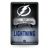 Tampa Bay Lightning 11X17 Large Embossed Metal Wall Sign